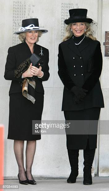 Camilla, Duchess of Cornwalla and Princess Michael of Kent attend the second memorial service for Lord Lichfield, Royal photographer and cousin of...