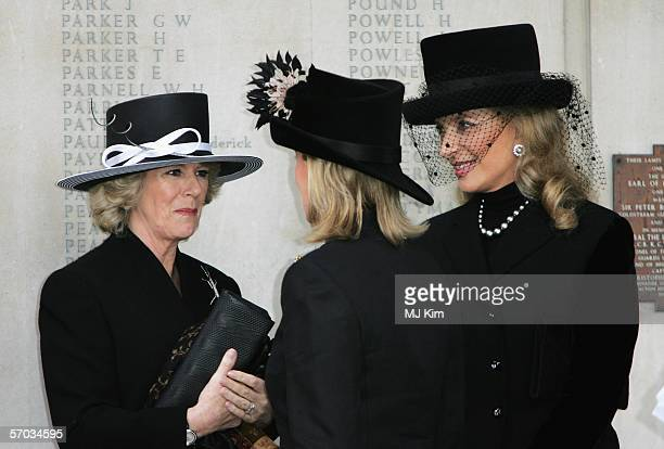 Camilla, Duchess of Cornwalla, Sophie Rhys-Jones, Countess of Wessex and Princess Michael of Kent attend the second memorial service for Lord...