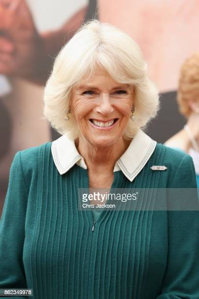 Camilla, Duchess of Cornwalll hots a reception to celebrate the launch of the 'Our Amazing People' campaign at Clarence House on October 17, 2017 in...