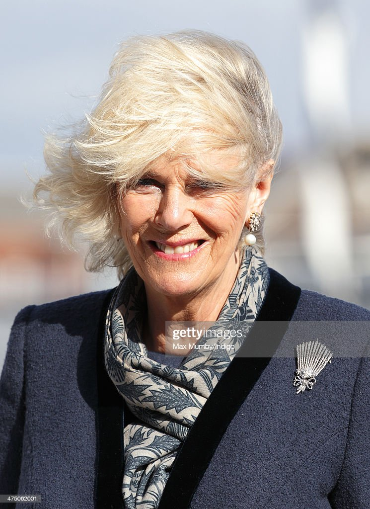 The Prince Of Wales And Duchess Of Cornwall Visit Portsmouth : News Photo
