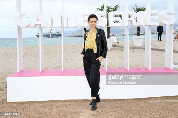 Camilla Filippi attends Il Cacciatore Photocall during the 1st Cannes International Series Festival on April 10 2018 in Cannes France