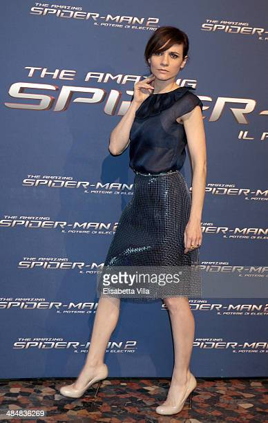 Camilla Filippi attends 'The Amazing SpiderMan 2 Rise Of Electro' Rome Premiere at The Space Moderno Cinema on April 14 2014 in Rome Italy