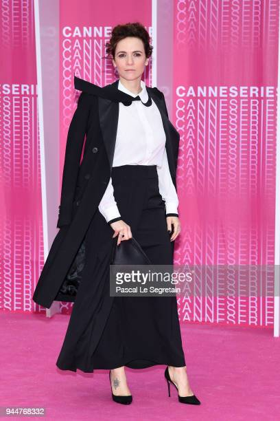 Camilla Filippi attends the Closing Ceremony and Safe screening during the 1st Cannes International Series Festival at Palais des Festivals on April...