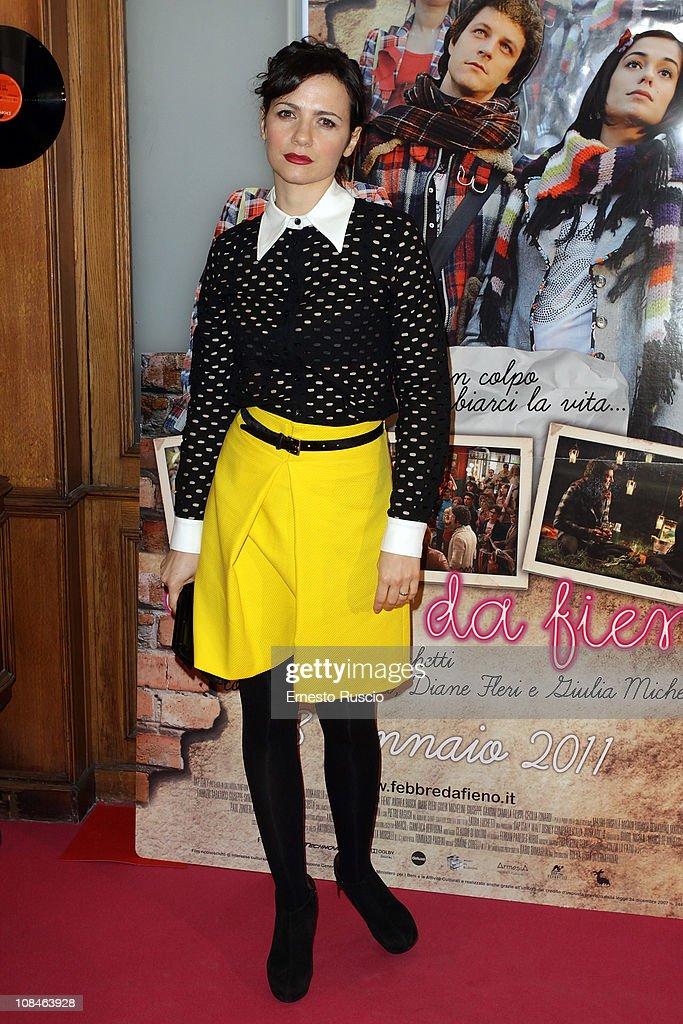 Camilla Filippi attends the 'Febbre Da Fieno' premiere at Emassy Cinema on January 27, 2011 in Rome, Italy.