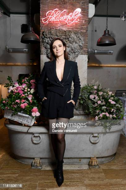 Camilla Filippi attends the Philosophy Store Opening on October 16, 2019 in Rome, Italy.