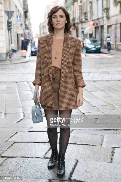 Camilla Filippi poses for the photographer on November 25 2019 in Turin Italy