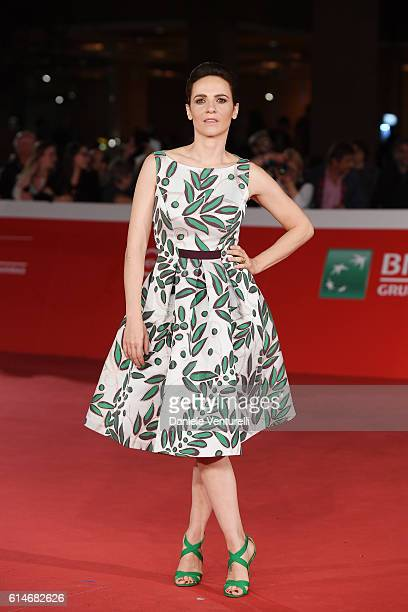 Camilla Filippi walks a red carpet for 'Manchester By The Sea' during the 11th Rome Film Festival at Auditorium Parco Della Musica on October 14 2016...