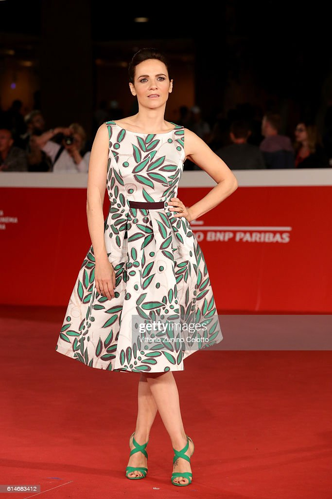 Camilla Filippi walks a red carpet for 'Manchester By The Sea' during the 11th Rome Film Festival at Auditorium Parco Della Musica on October 14, 2016 in Rome, Italy.