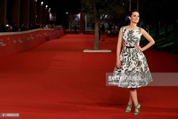 Camilla Filippi walks a red carpet for 'Manchester By The Sea' during the 11th Rome Film Festival at Auditorium Parco Della Musica on October 14,...