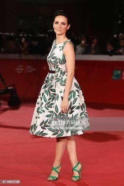 Camilla Filippi walks a red carpet for 'Snowden' and 'Powidoki Afterimage' during the 11th Rome Film Festival at Auditorium Parco Della Musica on...
