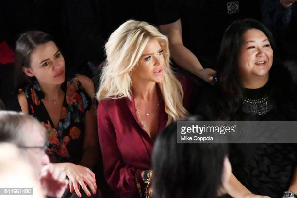 Camilla Hansson Victoria Silvstedt and Susan Shin attend the Taoray Wang Front Row during New York Fashion Week The Shows at Gallery 1 Skylight...