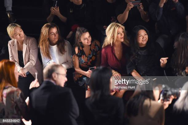 Camilla Hansson Victoria Silvstedt and Susan Shin attend the Taoray Wang fashion show during New York Fashion Week The Shows at Gallery 1 Skylight...