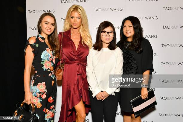 Camilla Hansson Victoria Silvstedt Taoray Wang and Susan Shin pose backstage for the Taoray Wang fashion show during New York Fashion Week The Shows...