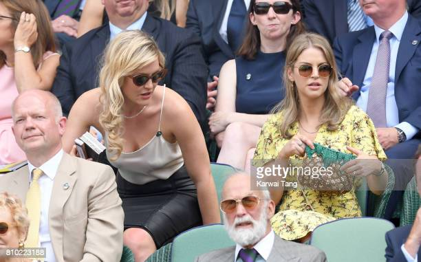 Camilla Kerslake and Amy Huberman attend day 5 of Wimbledon 2017 on July 7 2017 in London England