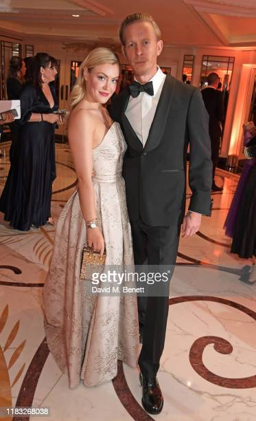 Camilla Kerslake and Laurence Fox attend the Walpole British Luxury Awards 2019 at The Dorchester on November 18 2019 in London England