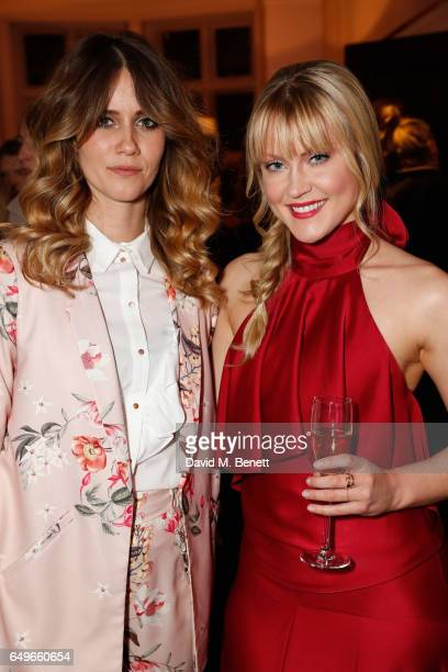 Camilla Kerslake and Whinnie Williams at the launch party of the Women's Space on International Women's Day on March 6 2017 in London England