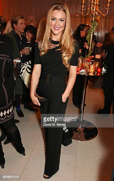 Camilla Kerslake attend the opening night reception of the English National Ballet's Le Corsaire hosted by St Martins Lane on January 13 2016 in...