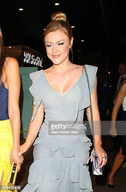 Camilla Kerslake attending the Tiffany Co Exhibition 'Fifth And 57th' Opening Night on July 1 2015 in London England