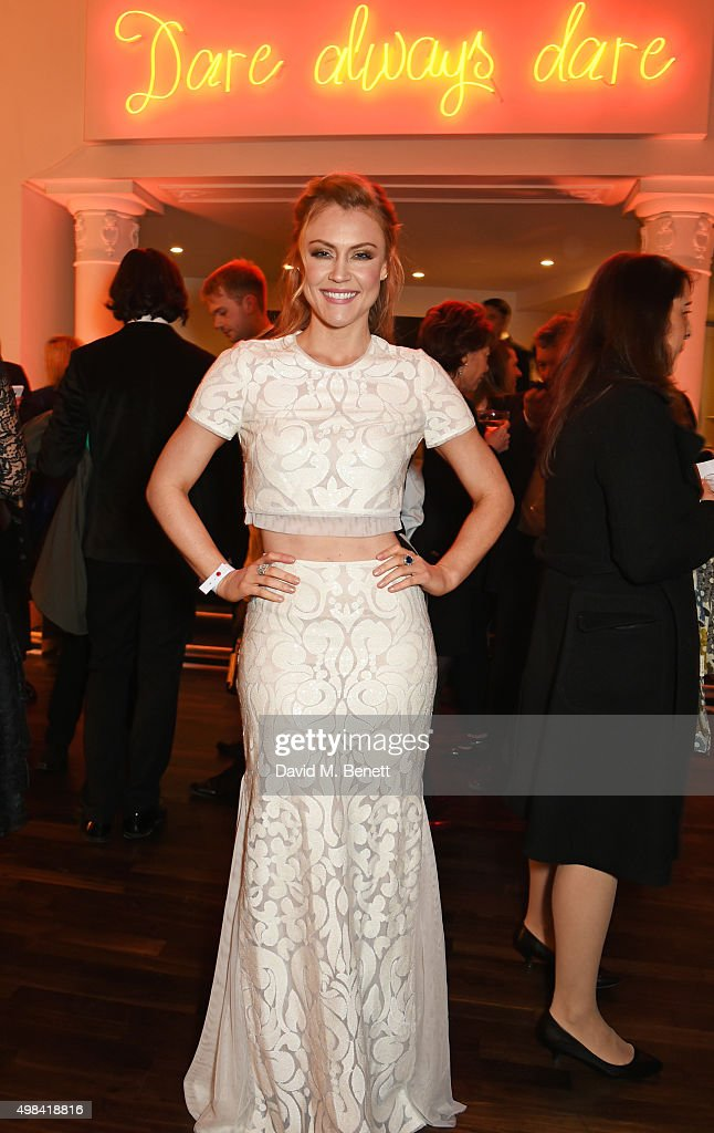 Camilla Kerslake attends a champagne reception ahead of The London Evening Standard Theatre Awards in partnership with The Ivy at The Old Vic Theatre on November 22, 2015 in London, England.