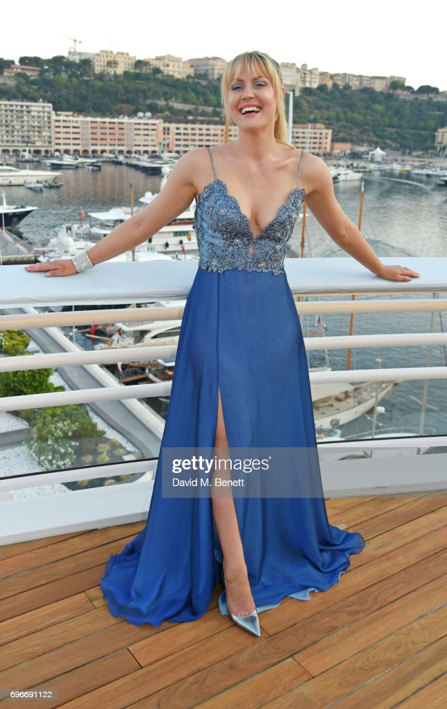Camilla Kerslake attends a charity gala evening and performance of the play 'A Life-Long Pas' in honour of Rudolf Nureyev and Dame Margot Fonteyn, held by Club Eclectique & It's founders Anna Nasbina & Yulia Polvida, at The Yacht Club De Monaco on June 16, 2017 in Monaco, Monaco.