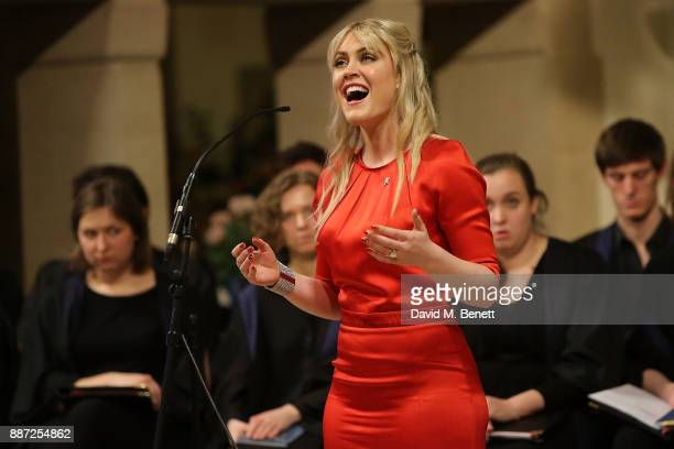 Camilla Kerslake attends Childline's Merry Little Christmas 2017 at St Columba's Church on December 6 2017 in London England