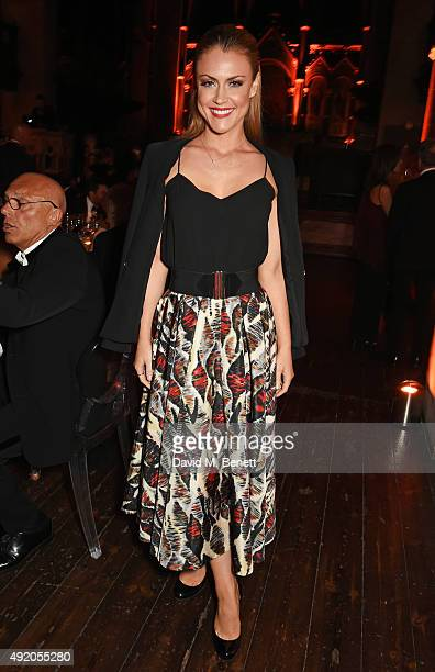 Camilla Kerslake attends Eva Cavalli's birthday dinner party at One Mayfair on October 9 2015 in London England