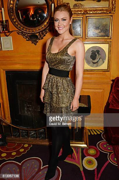 Camilla Kerslake attends Mark Ronson's performance at Annabel's on March 2 2016 in London England