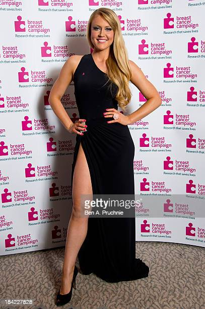 Camilla Kerslake attends the Breast Cancer Campaign's Pink Ribbon Ball at The Dorchester on October 12 2013 in London England