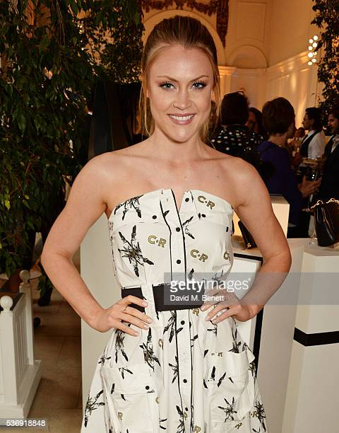 Camilla Kerslake attends the launch of British fashion brand Sienna Jones' debut collection 'The Marina Range' at The Orangery, Kensington Palace, on...
