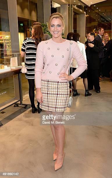Camilla Kerslake attends the Monica Vinader and Brita Fernandez Schmidt launch of the #SheInspiresMe friendship bracelet on October 8 2015 in London...