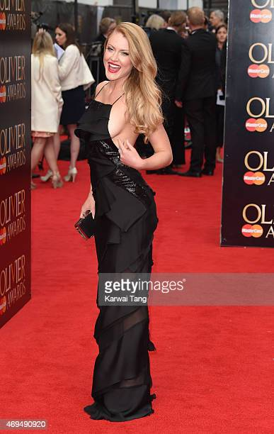 Camilla Kerslake attends The Olivier Awards at The Royal Opera House on April 12 2015 in London England