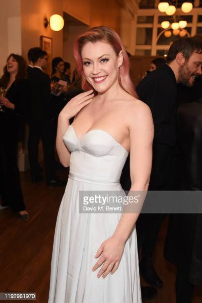 Camilla Kerslake attends the press night preshow reception for La Boheme at The Royal Opera House on January 10 2020 in London England
