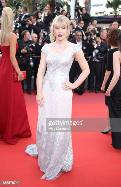 Camilla Kerslake attends the 'The Killing Of A Sacred Deer' screening during the 70th annual Cannes Film Festival at Palais des Festivals on May 22...