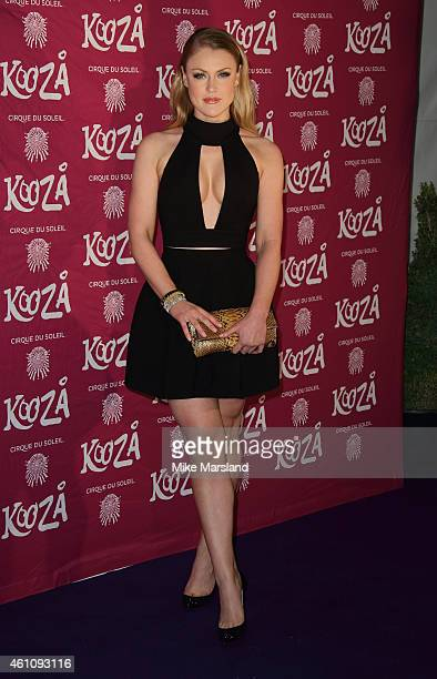 Camilla Kerslake attends the VIP performance of 'Kooza' by Cirque Du Soleil at Royal Albert Hall on January 6 2015 in London England