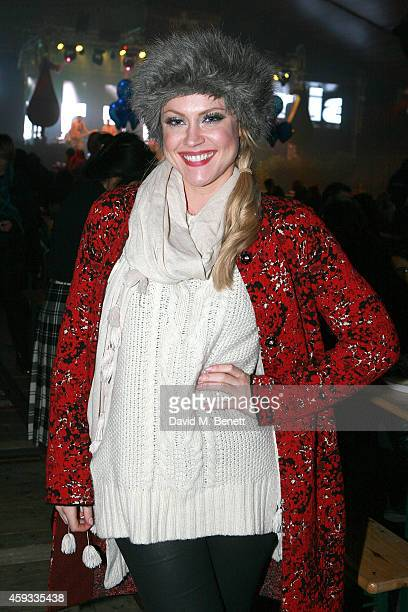 Camilla Kerslake attends the Winter Wonderland VIP opening at Hyde Park on November 20 2014 in London England