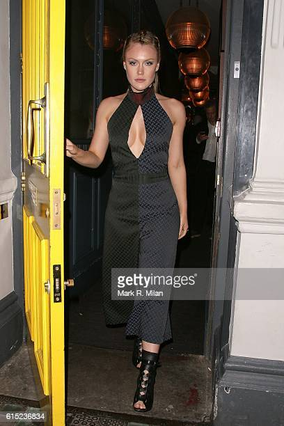 Camilla Kerslake leaving the Groucho club on October 17 2016 in London England