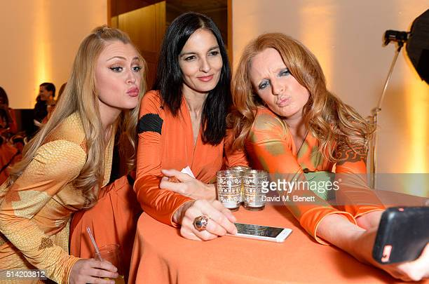 Camilla KerslakeYasmin MillsOlivia Inge at The United Nations Trust Women United Dinner supported by The LDNY Foundation and Goldman Sachs at...