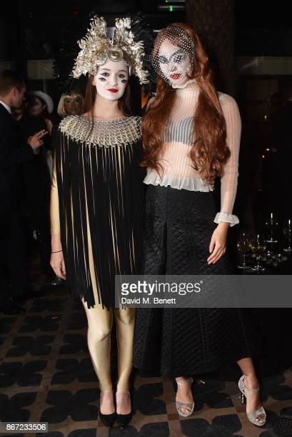 Camilla Kristensen and Betty Bachz attend Dali's Dream Halloween party hosted by Velocity Black and The Mandrake Hotel on October 27 2017 in London...