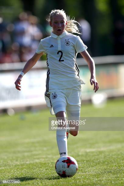 Camilla Kuever of Germany runs with the ball during the U15 girl's international friendly match between Germany and Netherlands at Getraenke Hoffmann...