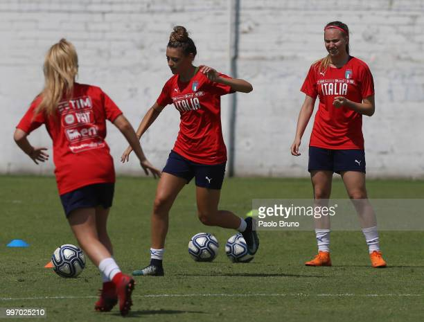 Camilla Labate of Italy in action during the Italy women U19 photocall and training session on July 12 2018 in Formia Italy
