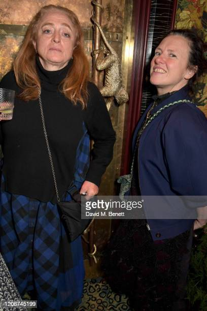 Camilla Lowther and Katie Grand attend the TOMMYNOW after party at Annabels on February 16 2020 in London England