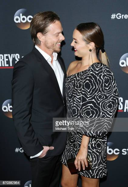 Camilla Luddington and Matthew Alan arrive at the 300th episode celebration for ABC's 'Grey's Anatomy' held at TAO Hollywood on November 4 2017 in...