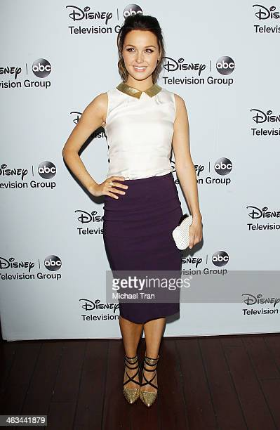 Camilla Luddington arrives at the ABC/Disney 2014 Winter TCA party held at The Langham Huntington Hotel and Spa on January 17 2014 in Pasadena...