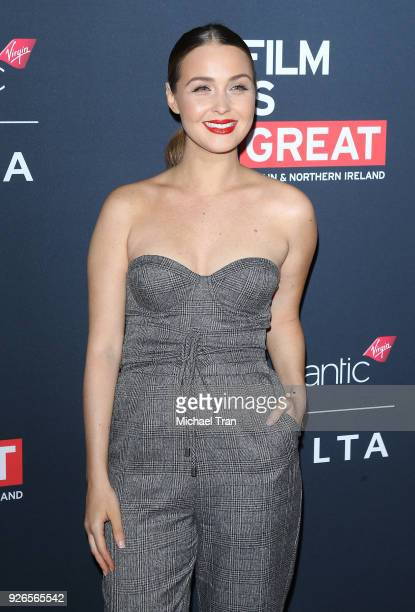 Camilla Luddington arrives to the Film Is GREAT Reception honoring British nominees of The 90th Annual Academy Awards held at The British Residence...