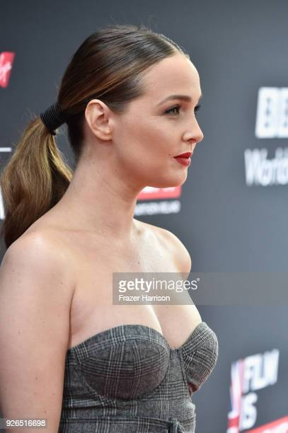 Camilla Luddington attends the Great British Film Reception honoring the British nominees of The 90th Annual Academy Awards on March 2 2018 in Los...