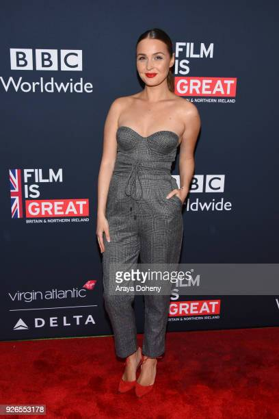 Camilla Luddington attends the Great British Film Reception honoring the British nominees of The 90th Annual Academy Awards at The British Residence...