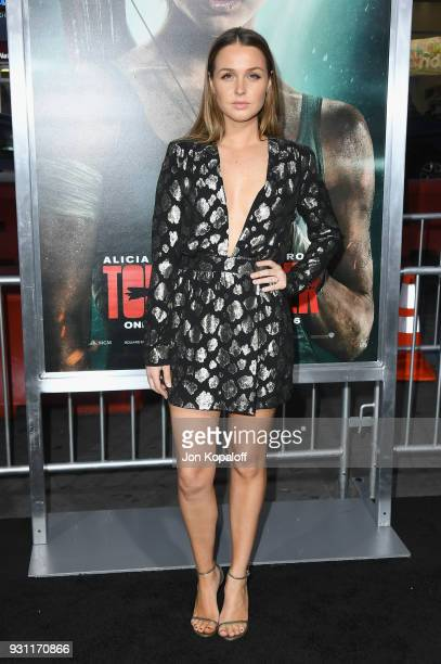 Camilla Luddington attends the Los Angeles Premiere 'Tomb Raider' at TCL Chinese Theatre IMAX on March 12 2018 in Hollywood California