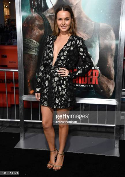 Camilla Luddington attends the Premiere Of Warner Bros Pictures' 'Tomb Raider' at TCL Chinese Theatre on March 12 2018 in Hollywood California