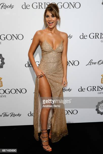 Camilla Marrone attends the DeGrisogono 'Love On The Rocks' during the 70th annual Cannes Film Festival at Hotel du CapEdenRoc on May 23 2017 in Cap...