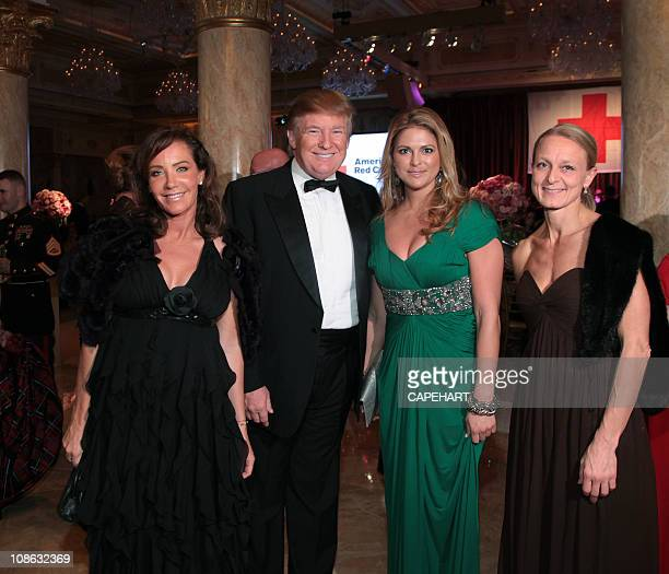 Camilla Olsson Donald Trump HRH Princess Madeleine of Sweden and Charlotte Brandin attend the 54th International Red Cross Ball at MaraLago on...